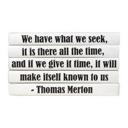 "E Lawrence Quotations Series: Thomas Merton ""We Have What We Seek..."" 5 Vol."