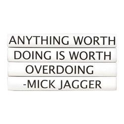 "E Lawrence Quotations Series: Mick Jagger ""Anything Worth Doing..."" 4 Vol."
