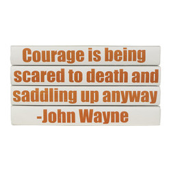 "E Lawrence Quotations Series: John Wayne ""Courage Is..."" 4 Vol."