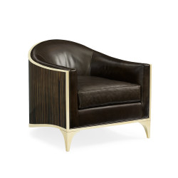 Caracole The Svelte Chair - Majestic Gold/ Leather