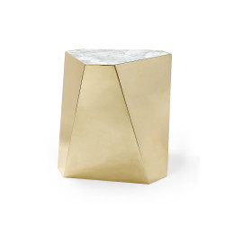 Caracole The Contempo Side Table - Large - Majestic Gold