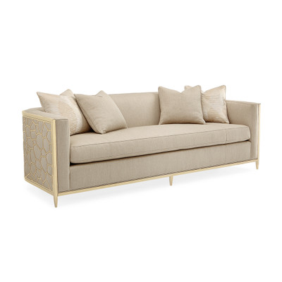 Caracole Ice Breaker Sofa - Gold