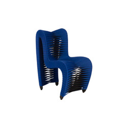 Phillips Collection Seat Belt Dining Chair, Blue/Black