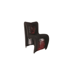 Phillips Collection Seat Belt Dining Chair, Black/Red