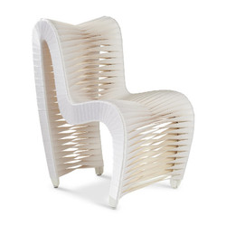 Phillips Collection Seat Belt Dining Chair, White