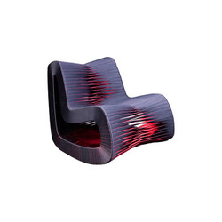 Phillips Collection Seat Belt Rocking Chair, Black/Red