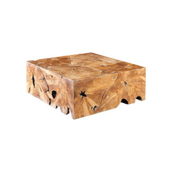 Phillips Collection Teak Slice Coffee Table, Square
