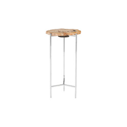 Phillips Collection Petrified Wood Beverage Table, Off White, MD
