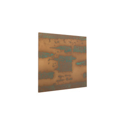 Phillips Collection Abstract Copper Patina Wall Art, Square