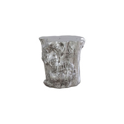 Phillips Collection Log Side Table, Silver Leaf