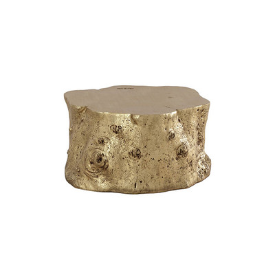 Phillips Collection Log Coffee Table, Gold Leaf