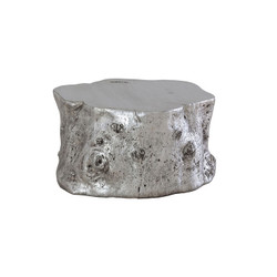 Phillips Collection Log Coffee Table, Silver Leaf