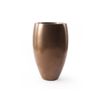 Phillips Collection Classic Planter, Polished Bronze, MD