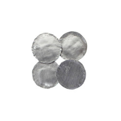 Phillips Collection Galvanized Wall Discs, Set of 4, Silver Leaf