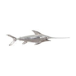 Phillips Collection Broadbill Swordfish Fish, Silver Leaf