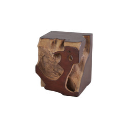 Phillips Collection Freeform Stool, Faux Bois, SM