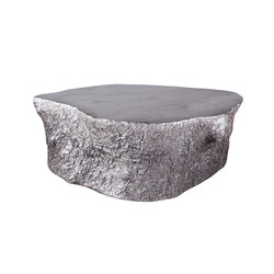 Phillips Collection Bark Coffee Table, Silver Leaf