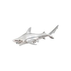 Phillips Collection Black Tip Reef Shark, Silver Leaf
