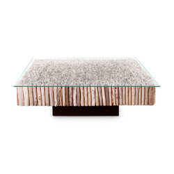 Phillips Collection Manhattan Coffee Table, Square, with Glass