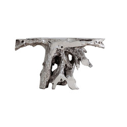 Phillips Collection Brivo Freeform Console Table, Silver Leaf