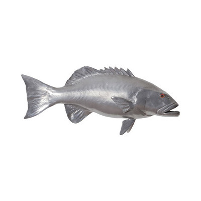 Phillips Collection Coral Trout Fish, Polished Aluminum