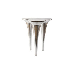 Phillips Collection Butterfly Bar Table, Silver Leaf
