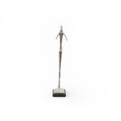 Phillips Collection Speak No Evil Skinny Sculpture, Silver Leaf, SM