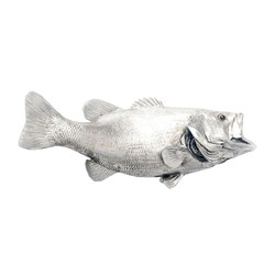 Phillips Collection LGmouth Bass Fish, Silver Leaf