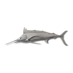Phillips Collection Blue Marlin Fish, Aluminum Finish