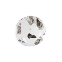 Phillips Collection Cast Root Wall Ball, Silver Leaf, White, LG