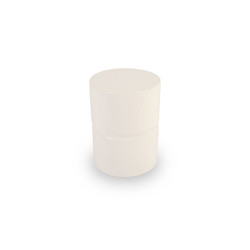 Phillips Collection Stacked Stool, Gel Coat White