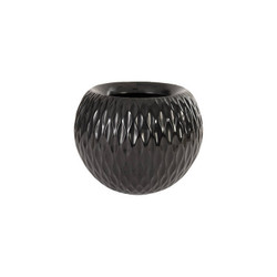 Phillips Collection Ripple Planter, Gel Coat Black