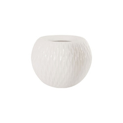Phillips Collection Ripple Planter, Gel Coat White