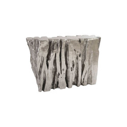Phillips Collection Freeform Console Table, Silver Leaf