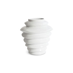 Phillips Collection Spiral Planter, Tall White