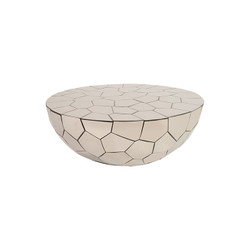 Phillips Collection Crazy Cut Coffee Table, Round