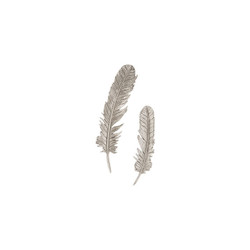 Phillips Collection Feathers Wall Art, Silver Leaf, Set of 2