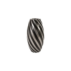 Phillips Collection Turbo Vase, Alumunim and Black