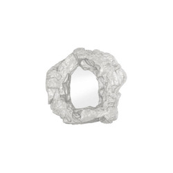 Phillips Collection Rock Pond Mirror, Silver Leaf
