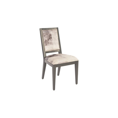 Phillips Collection Mesmerize Dining Chair, Mist Grey, Grey Wooden Legs