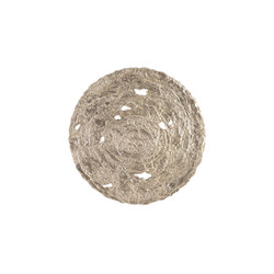 Phillips Collection Molten Disc Wall Art, Silver Leaf, LG