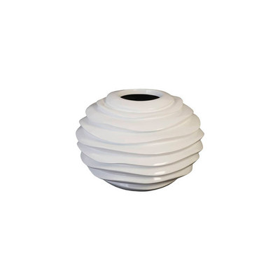 Phillips Collection Spiral Planter, White, SM
