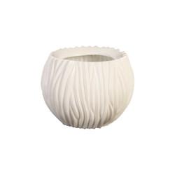Phillips Collection Alon Vase, Gel Coat White