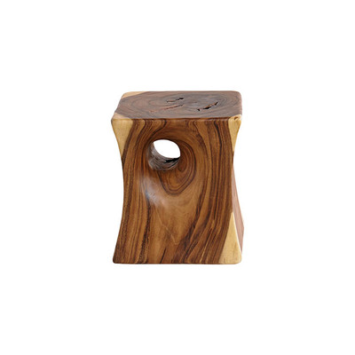 Phillips Collection Peek a Boo Side Table, Chamcha Wood, Natural
