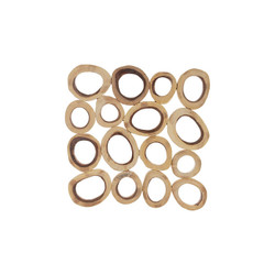 Phillips Collection Chuleta Rings Wall Art, Chamcha Wood, Square, LG