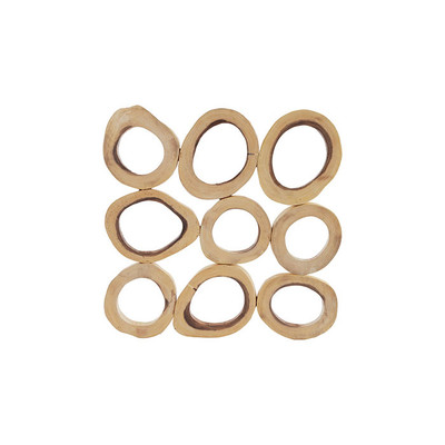 Phillips Collection Chuleta Rings Wall Art, Chamcha Wood, Square, SM