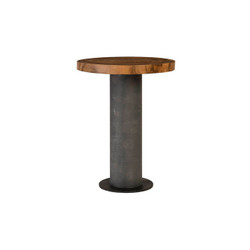 Phillips Collection Concrete Bar Table, Chamcha Wood Top