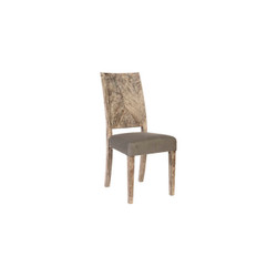 Phillips Collection Origins Dining Chair, Chamcha Wood, Grey Stone