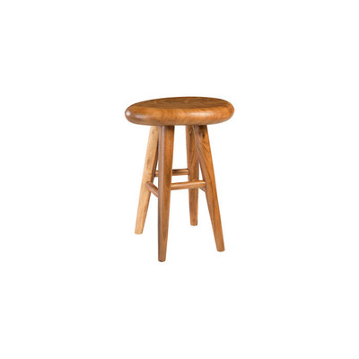 Phillips Collection Smoothed Bar Stool, Chamcha Wood, Natural, Oval