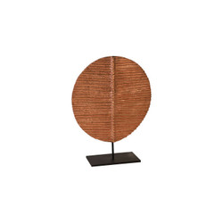 Phillips Collection Carved Round Leaf on Metal Stand, SM